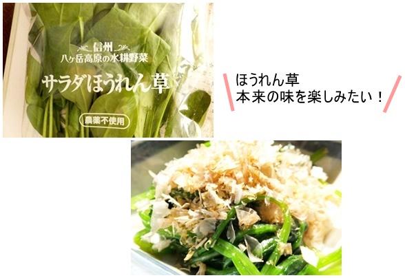 レシピ付きサラダ
