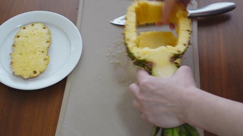 パイナップルくり抜き