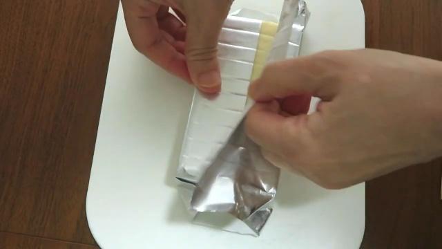銀紙で包む